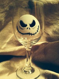 Nightmare Before Christmas Jack Skellington wine glass on Etsy, $20.00