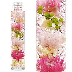 ハーバリウム(浮游花/フユカ)、ミックスタイプのピンク系花材
