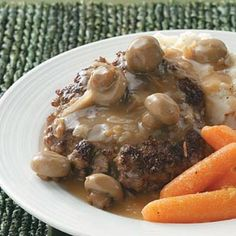 3/20- I made these Hamburger Steaks with Mushroom Gravy tonight for dinner for Matthew and I. This recipe is definitely a keeper. You should all make as a quick weeknight dinner.     Bon Appetit-Lauren