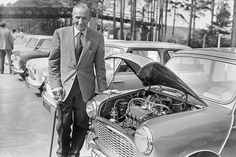 Without Alexander Issigonis, there'd be no Mini. Jamie Kitman demonstrates the influence the engineer and designer had on the Classic Mini and its history. Mini Cooper S, John Cooper, Mini Morris, Classic Race Cars, Mini Countryman, Car Images, Classic Mini, Go Kart, Beatles