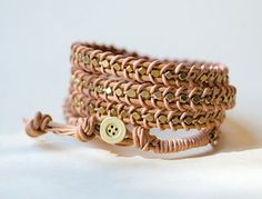leather wrap bracelet tutorial- looking for small lightweight gifts to make for international delegates.