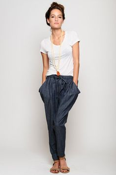 Piper Gore Chambray pants. Casual and classic.
