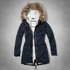 Womens Meg Sherpa Lined Parka | Womens Jackets & Outerwear | Abercrombie.com SIZE SMALL