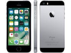 "iPhone SE Apple 16GB Cinza Espacial 4G Tela 4"" - Retina Câm. 12MP iOS 10 Proc. Chip A9 Touch ID - Magazine Trhilton"
