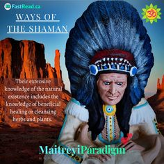 A Shaman is a person who is comprehensively aware of the natural world and the presence of spirits and the associated spiritual energy. Read on...  #shamanism #shaman #shamanwisdom #nativeamericanhealing #nativeamericanremedies #medicinewheel #shamanmedicinewheel #nativeIndians #Indians #fourquarters #shamanmedicineman #nativewisdom #nativewiseman We Are All One, Spirit World, Medicine Wheel, Live In The Present, Shamanism, Natural Energy, Spirit Guides, Thoughts And Feelings, Natural World