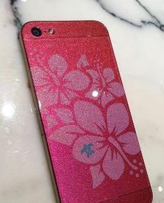 ColorWare custom #iPhone5 with Hawaii's state flower - the Hibiscus.