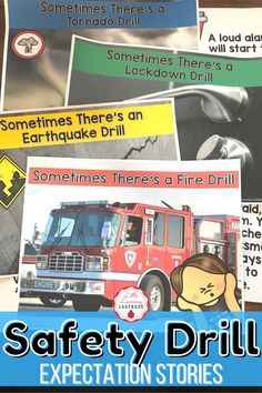This safety drills rules and expectations resource is full of posters and materials to accompany the teaching of your school's PBIS rules. I like to use these materials from the very first day of school to teach my students the right way to follow our fire, earthquake, tornado, and lockdown safety procedures. From finding cover and holding on, to staying calm, these materials are sure to teach your students how to be safe during safety drill! Classroom Expectations Poster, Voice Level Charts, Voice Levels, Fire Drill, Cue Cards, I Can Statements, Substitute Teacher, Family Support, Positive Behavior