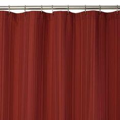 "Ribbed Dobby Shower Curtain - Burgundy (70x72"")"