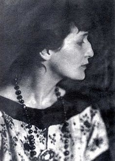 Anna Andreyevna Gorenko, better known by the pen name Anna Akhmatova / Анна Ахматова (1889-1966): Russian modernist poet, one of the most acclaimed writers in the Russian canon.
