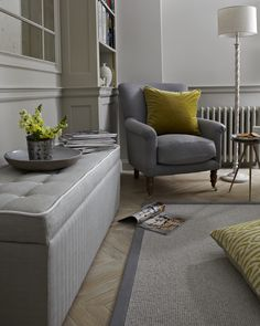 Some armchairs are merely good-looking; our French-inspired Alderney is both handsome and hugely comfortable. Pictured here in Ash soft wool.