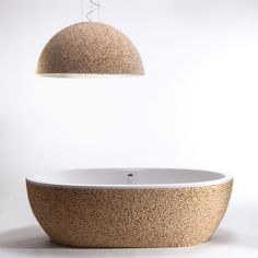 Trendir - Home Decorating Trends magazine - Wood Finish Bathtub by Bleu Nature: Baignoire Stone Pixel Tub