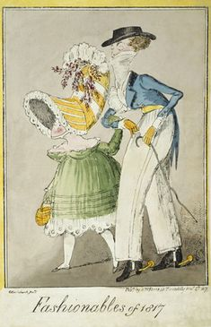 Fashionables of 1817, by George Cruikshank. Museum of London