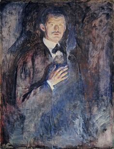 Edvard #Munch. Self-Portrait with Cigarette, 1895.