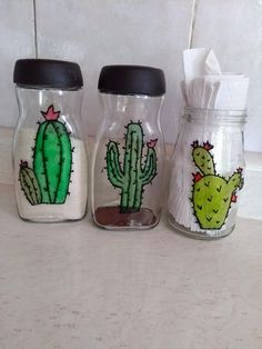 Coffee Jar Crafts, Coffee Jars, Recycled Crafts, Diy Crafts, Nescafe, Cafe Interior, Bottle Art, Reuse, Kids Room