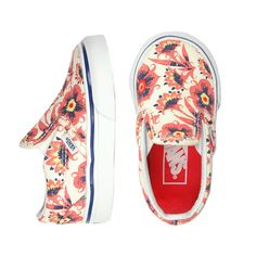 Vans Classic Slip Vintage Floral - mini mioche - organic infant clothing and kids clothes - made in Canada Little Girl Shoes, Baby Girl Shoes, Girls Shoes, Baby Girl Fashion, Toddler Fashion, Kids Fashion, Infant Clothing, Kids Clothing, Girl Outfits