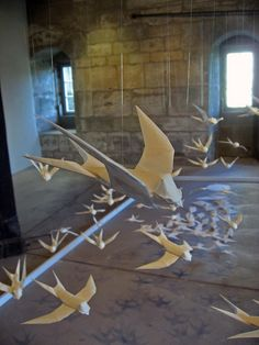 –Origami swallows