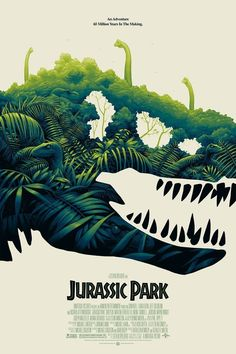There's a brand new Mondo Jurassic Park poster coming to San Diego Comic-Con, along with some dino tiki mugs and a new Jurassic World: Fallen Kingdom print. Jurassic Park Poster, Jurassic Park 1993, Jurassic Park World, Jurassic Park Tattoo, Jurrassic Park, Park Art, Dinosaur Posters, Dinosaur Art, Dinosaur Design