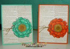 Stampin' Up Blended Bloom and new makers!  Katina Martinez - www.lovinglifeslittleblesssings.com