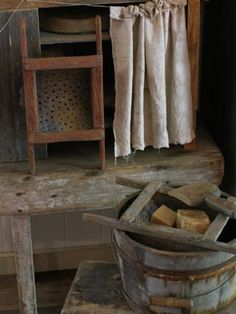 Bucket strainers made by Sweet Liberty Homestead. Come follow us as we're gearing up to make more primitives!