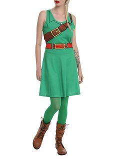 Nintendo The Legend Of Zelda Link Costume Dress   Hot Topic