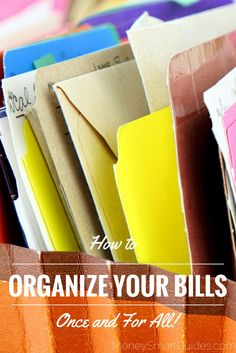 What is the number one reason most people fail to pay their bills on time? It's not keeping their bills organized. http://www.moneysmartguides.com/organize-your-bills