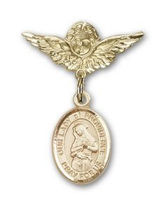 IceCarats Designer Jewelry Gold Filled OL Of Providence Charm Angel Badge Pin 1 X 34 *** Learn more by visiting the image link.