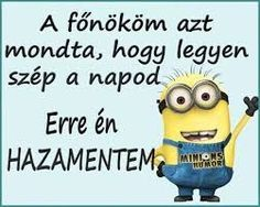 Have a nice day . Minion Humor, Minions, Fb Covers, Really Funny, Words Quotes, Funny Jokes, Funny Sayings, Best Quotes, Quotations