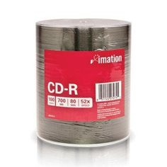 CD-R 700 MB/80 Min 100pk by Imation. $46.91. Imation CD-R discs, 100 pack bulk shrink wrapped, 52x, standard - 700 MB, silver (Taiwan).Supplier cannot accept returns for this brand. Please contact manufacturer directly.