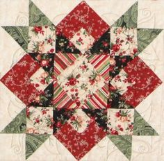 Hearts in the Stars Quilt Block