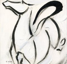 Spirited Horse Art Oil Painting by Anna Noelle Rockwell-Joyous Horse via Etsy