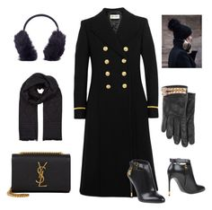 """""""Black & Gold goodies"""" by ellenfischerbeauty on Polyvore featuring Yves Saint Laurent, Tom Ford, Valentino, Temperley London, Karl Donoghue, YSL, valentino, ROCKSTUD and TOMFORD"""