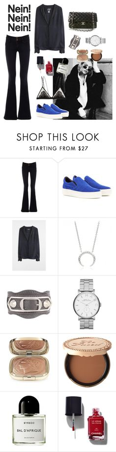 """Untitled #1827"" by pernillacatharina ❤ liked on Polyvore featuring Goldsign, Balenciaga, Zadig & Voltaire, Chanel, Marc by Marc Jacobs, Dolce&Gabbana, Too Faced Cosmetics, Byredo and Cosabella"