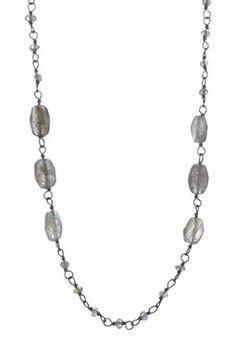Beaded Labradorite Station Necklace