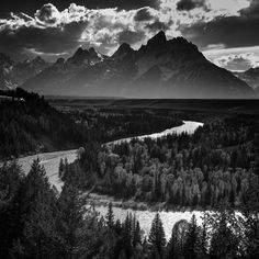 Image - 8860-In Tribute to Ansel Adams, Snake River, Grand Teton National Park, Wyoming, USA 2014 © Laurent Baheux - 1440 x 1440