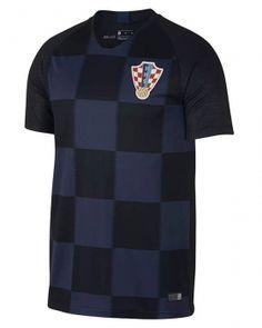 2018 Croatia World Cup Away Jersey  L484  Col Ras Du Cou 31552dcfe165e