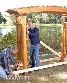 Pergola For Sale Lowes Diy Pergola, Diy Arbour, Building A Pergola, Pergola Swing, Cheap Pergola, Outdoor Pergola, Wooden Pergola, Pergola Shade, Pergola Plans
