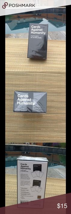 BRAND NEW CARDS AGAINST HUMANITY!! Still in packaging! Hilarious card game (I already have one!) cards against humanity Other