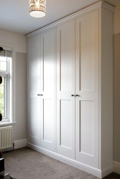 fitted wardrobes 4 door shaker wardrobes made and fitted by TW Bespoke in Burton on Trent Bedroom Built In Wardrobe, Bedroom Built Ins, Diy Wardrobe, Closet Bedroom, Built In Wardrobe Ideas Layout, Build In Wardrobe, Wardrobe Ideas For Small Rooms, Alcove Wardrobe, Ikea Wardrobe Hack