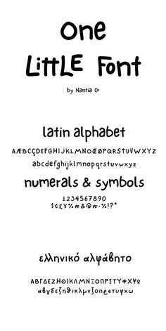"""Let me introduce you to One Little Font! One Little Font is an adorable hand-made typeface with a lot of personality. With double letter ligatures and stylistic alternates this One Little Font can be a mighty companion to your next graphic design project. From """"hand-written"""" quotes to product packaging merchandise and branding projects this One Little Font is so versatile that it can cover them all. Does this font seem familiar? Yes! The lettering from my doodle series """"10 Little Doodles""""…"""