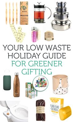Your guide to the best eco, low-impact, sustainable gifts and how you can make less waste this holiday season with green wrapping + decorations.