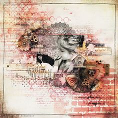 "Finnabair's ""Grungy and Sweet"" 3D Collage - Step by step video tutorial [95 min]"
