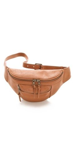leather belt bag    (calling it a belt bag doesn't make it okay to wear a fanny pack)