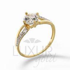Bílé zlato - šperky | šperky z kombinace zlata | Dámský mohutný zásnubní zlatý…