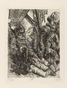 Gesehen am Steilhang von Cléry-sur-Somme (vu sur les pentes de CLéry sur Somme), 1924, eau-forte, aquatinte et pointe sèche, 25,7 x 19,5 cm.