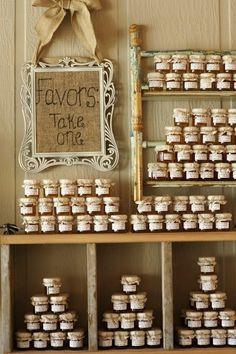 Useful #wedding #favors -mini jars of local honey.