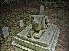 Pet Cemetery with graves dating back centuries in Wrest Park, Bedfordshire