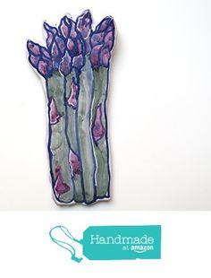 Asparagus Spoon Rest in Majolica Ceramic -(a) from Cosmic Mermaid…