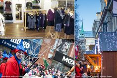 Early Christmas Shopping Ideas In Montreal Destinations, Christmas Shopping, Boutiques, Times Square, Creations, Events, Holidays, Travel, Shops