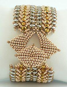 Cabella beadweaving bracelet PDF tutorial by daxbeadartpatterns