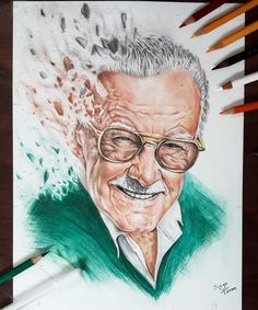 My tribute to Stan lee . A colored pencils drawing. My tribute to Stan lee . A colored pencils drawing. More from my siteDrawing a realistic eye with colored pencils Pencil Art Drawings, Realistic Drawings, Colorful Drawings, Art Sketches, Avengers Drawings, Avengers Art, Stan Lee, Avengers Coloring, Marvel Fan Art